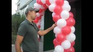 getlinkyoutube.com-Арка на каркасе секциями  из воздушных шаров (Arch on the frame sections from balloons)