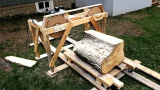 getlinkyoutube.com-Using The Quick And Dirty Band Saw Mill