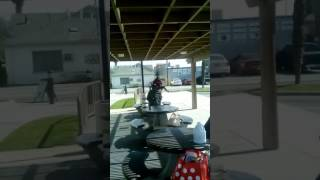 A crack head at California ave in Bakersfield California and I will fucking beat his ass