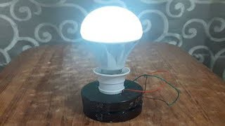 free energy electricity generator using Magnet and copper wire self running 12v light Bulb 2018 width=