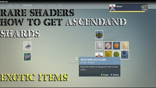 getlinkyoutube.com-Destiny: Glitched Shaders (How To Get Ascendant Shards) Dismantling Exotic Items