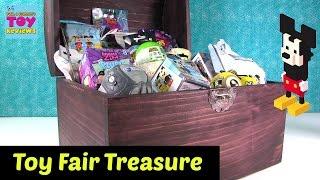 getlinkyoutube.com-Toy Fair Treasure Chest Unboxing Hatchimals Disney Emoji Slither.io | PSToyReviews