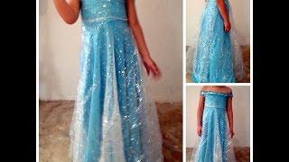 getlinkyoutube.com-como hacer vestido Elsa Frozen facil y rapido