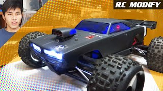 getlinkyoutube.com-RC Modify 2 | HPI Dodge Charger Body on Traxxas E-REVO