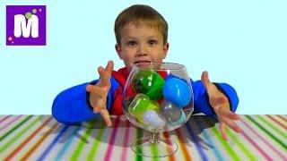 getlinkyoutube.com-Лизуны и слизни в яйцах сюрприз игрушки динозавры slimy toys in surprise eggs