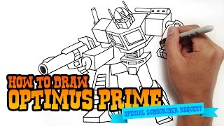 getlinkyoutube.com-How to Draw Optimus Prime from Transformers - Step by Step Video