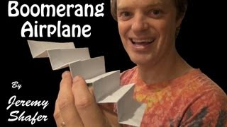 getlinkyoutube.com-Origami Super Boomerang Airplane