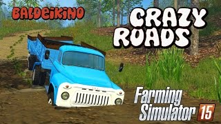 getlinkyoutube.com-Baldeykino Map | Crazy Roads! | Farming Simulator 2015 | Gameplay