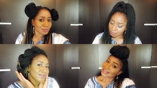 getlinkyoutube.com-10 WAYS I STYLE MY SENEGALESE TWIST CROCHET BRAID
