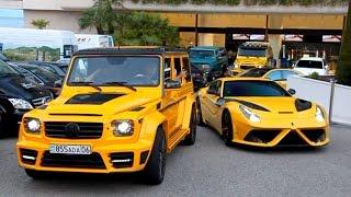 getlinkyoutube.com-Mansory Gang! AMG 6X6, Aventador, Ferrari F12.. Sound
