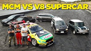 Racing a V8 Supercar (In Our Street Cars!!) width=