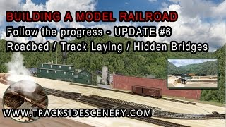 getlinkyoutube.com-Layout Update #6 - BUILDING A MODEL RAILROAD - TRACK LAYING & HIDDEN BRIDGES