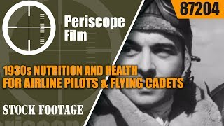 getlinkyoutube.com-1930s NUTRITION AND HEALTH FOR AIRLINE PILOTS & FLYING CADETS PROMOTIONAL FILM 87204