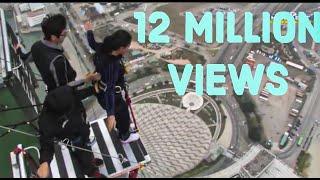 getlinkyoutube.com-World's Highest Bungy Jump Macau - SCARY FUNNY JUMP , Indian Girl Says JAI HO Before she jumps