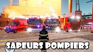 getlinkyoutube.com-GTA IV - Sapeurs Pompiers / French Fire Dept responding to a navy on fire