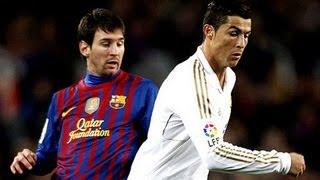 getlinkyoutube.com-Cristiano Ronaldo  dribla messi