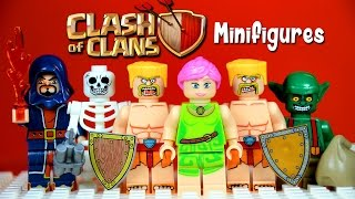 getlinkyoutube.com-LEGO Clash of Clans KnockOff Minifigures with Barbarians Archers Goblins Wall Breakers & Wizards