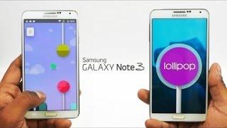 استعراض مميزات اندرويد 5.0 لوليبوب في جهاز الجلاكسي نوت3 |Android 5.0 on Galaxy Note3