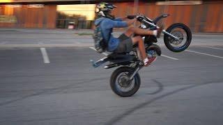 50cc moped STUNTING