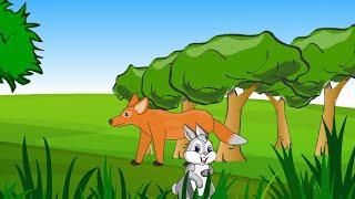 સસલું અને શિયાળ - ગુજરાતી બાળ વાર્તા - Saslu ane Siyal - Gujarati Bal Varta  (Rabbit and Fox)