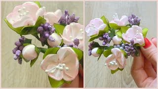 getlinkyoutube.com-Цветок вишни своими руками