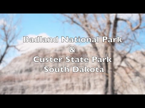 View of Badlands National & Custer State Park with Eastern Music