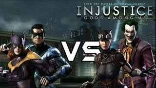 getlinkyoutube.com-Bat Family Vs Batman's Rogues with Lore & Joker Skins!