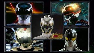 getlinkyoutube.com-Power Rangers - Forever Silver / Gray Ranger Morphs (Power Rangers in Space - Dino Super Charge)
