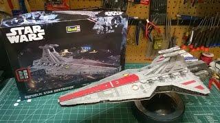 getlinkyoutube.com-Revell Republic Star Destroyer Model Kit Build 85-6458 Star Wars Rogue One
