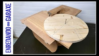 Jigsaw table circle cutting jig