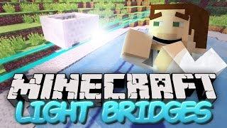 getlinkyoutube.com-Floating Sci-Fi Rails in Minecraft - Light Bridges Mod Showcase