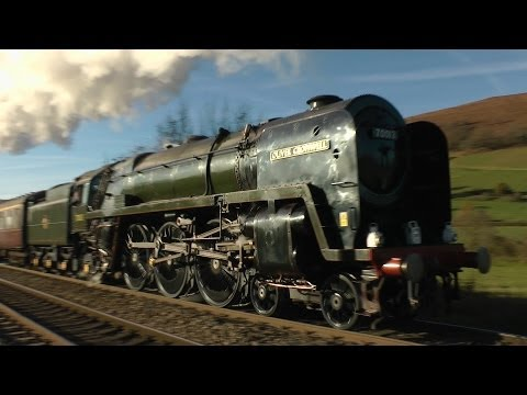 70013 'Oliver Cromwell' up Horfield and Llanvihangel - The Christmas Cheshireman - 30/11/13