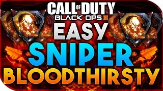 Black Ops 3 | HOW TO GET BLOODTHIRSTYS - EASY SNIPER BLOODTHIRSTYS (BO3 EASY BLOODTHIRSTY)