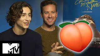 Call Me By Your Name: Peach Scene | Behind The Scenes With Armie Hammer & Timothée Chalamet