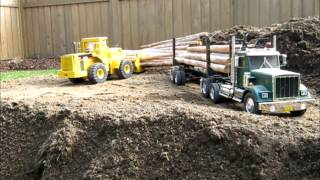getlinkyoutube.com-RCLogger CAT 980 Log Loader