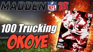 getlinkyoutube.com-100 TRUCKING STYLE MASTER CHRISTIAN OKOYE RUNNING OVER EVERYONE! | MADDEN 16 ULTIMATE TEAM GAMEPLAY