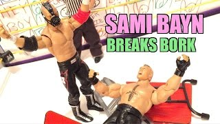 GTS WRESTLING: Breaking BANE! WWE Figures Match Animation PPV Event MATTEL Elites!