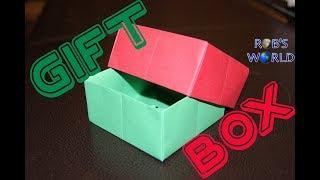 getlinkyoutube.com-Origami Gift Box with Cover (Easy) - Rob's World