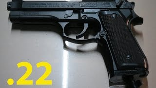 Daisy Powerline 622X .22 Air Pistol, Power Demonstration.