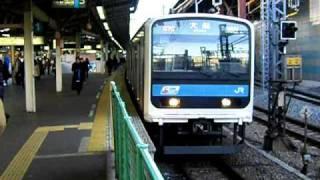 getlinkyoutube.com-京浜東北・根岸線 209系 横浜到着-発車