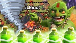 """getlinkyoutube.com-""""¡¡LA MAREA VERDE!!"""" 250 DUENDES + HECHIZOS DE SALTO!   Clash of Clans Troll!"""