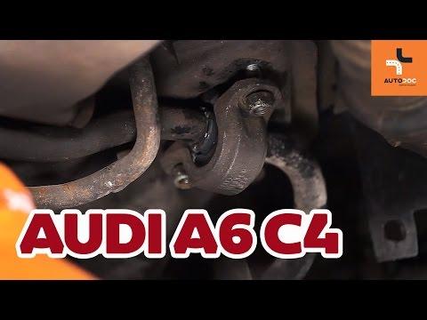 Где находятся сайлентблоки передних рычагов у Audi A6