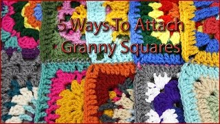 5 Ways to Attach Granny Squares