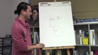 getlinkyoutube.com-Pablo Picasso drawing for kids 2 with Ramon Carrasco