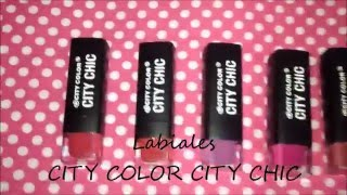 getlinkyoutube.com-SWATCHES LABIALES CITY COLOR CITY CHIC