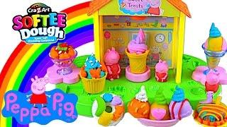 getlinkyoutube.com-Peppa Pig Softee Dough Peppa's Sweet Shop - Kids' Toys