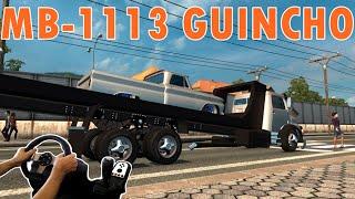 getlinkyoutube.com-EURO TRUCK SIMULATOR 2 - MB 11-13 GUINCHANDO CAMINHONETE REBAIXADA, VOLANTE G27!!!!