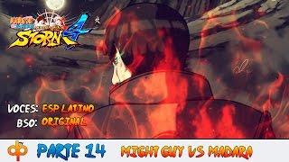 Gai Sensei vs Madara Español Latino - Naruto Shippuden Ultimate Ninja Storm 4 Parte 14