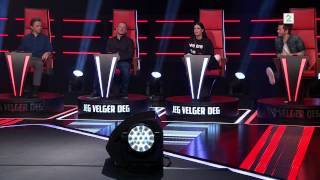 getlinkyoutube.com-Knut Marius Sings 'Runaway Baby' by Bruno Mars in The Voice, Norway, Season 2 Episode 2