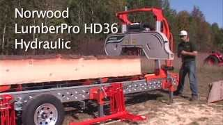 getlinkyoutube.com-Norwood LumberPro HD36 Hydraulic Portable Band Sawmill - Part 2